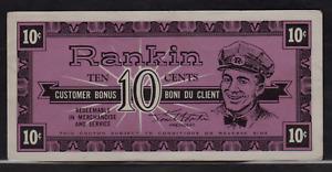 1950's Rankin Service Stations,London,Ontario Ten Cents Merchant Scrip/Note #'ed
