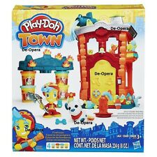 New Play Doh Town Fire Station House Playset Kids Play Fun Game