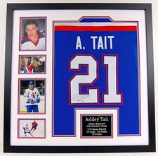 More details for ashley tait signed & professionally framed gb ice hockey jersey