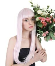 Pink & Silver Tinsel Wig | Party Ready Fancy Cosplay Halloween Wig HW-170A