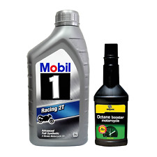 2 Litri olio Mobil1 Racing 2T + additivo Bardahl Octane Booster Motorcycle