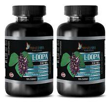 L-Dopa 99% Extract Powder 350mg Mucuna Stamina Libido Sex 120 Pills 2 Bottles