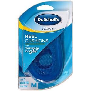 Dr Scholls Massaging Gel Heel Cushions Men Size 8-13 Shock Absorption 1 Pair