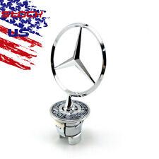 Mercedes-Benz Front Hood Ornament Mounted Star Logo Badge Emblem C E S Series