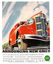 "1937 GMC Light-Duty Truck Ad Replica 14 x 11"" Photo Print"