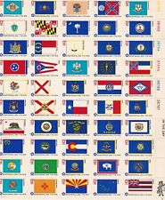 Scott #1633-1682 Full Sheet of 50 Bicentennial State Flag Stamps