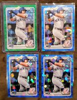 2020 Bowman Canaan Smith Lot (4) - Green Shimmer Refractor #/99, 3 Blue Sapphire
