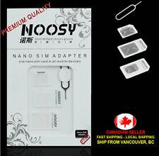 White Noosy Nano Sim Card to Micro Sim Card Standard Sim Card Adapter