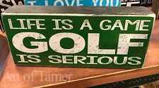 Golf Is Serious wood Sign 3.5X8 inches, Made In Usa