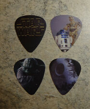 Star Wars SINGLE SIDED PICTURE GUITAR Picks  Set of 4