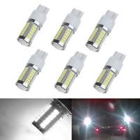 2pcs T20 6000K White 7443 5630 33SMD LED Dome Map Car Backup Reverse Light Bulb