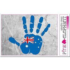 Australie main paume Doigt Imprimer étiquette Drapeau DESSIN aussie