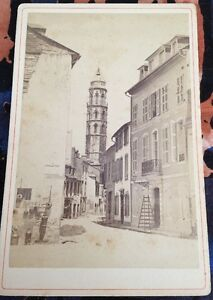 Bagnères-de-Bigorre. TROIS PHOTOS Verso 1880.