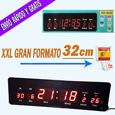 Reloj de Pared Digital Grande Oficina LED Rojo con Temperatura y Calendario 220v