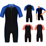 Kids Boys Girls Shorty Wetsuit One Piece Swimwear Swimsuit Bathing Surfing Suit