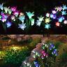 4 LED Solar Power Lily Flower Stake Lights Garden YardPath Luminous Lamps