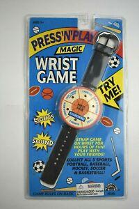 Vintage Press N Play Magic Wrist Game Basketball Watch Strap 1994 Broadway Toys