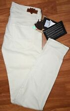 HTC women's skinny jeans sz 27 white salt color mid rise