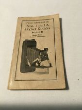 Rare! Kodak Nos. 1 & 1a Pocket Kodaks Series 2 camera manual instructions book