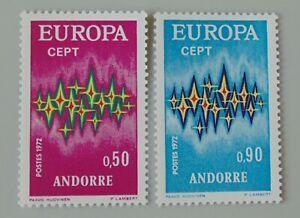 Andorre français 1972 217 218 neuf luxe ** europa cote 41 euros