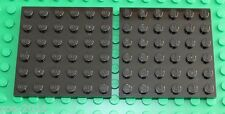 Lego Black Plate 6x6 2 pieces (3958) NEW!!!