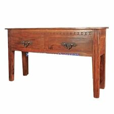 KraftNDecor Contemporary Wooden Console Table in Brown Colour