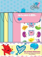 I HEART GUTS MIX & MATCH STATIONARY SET W/ CARDS ENVELOPES & STICKERS