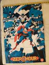 "BATMAN versus SUPERMAN ZERO HOUR 2-sided posterS 27"" by 18"" 1994 DC D.C. cOMics"