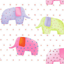 SOFT COTTON BABY BEDDING COVERING CLOTHES FABRIC CUTE ELEPHANT BISCUIT GREEN 44""