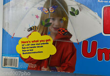 Umbrella see thru for Kids Safety-easy rub on designs Curiosity Kits E-Z NEW