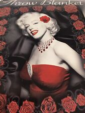 Marilyn Monroe Red Rose PLUSH SOFT microfiber blanket throw NEW