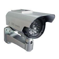 Factice Faux Caméra Surveillance de Sécurité à Energie Solaire à LED / Imitation