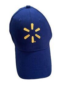 Walmart Associate Adjustable Baseball Hat Blue Employee Cap Uniform