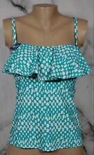 CATALINA NEW NWT Hot Teal Print Nairobi Bandini Top Small Removable Straps