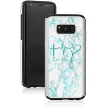 Marble Shockproof Hard Case For Samsung Galaxy Faith Hope Love EKG Christian