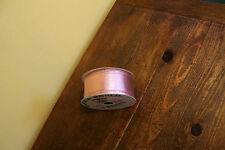 Pink Metallic Mylar Ribbon Garland Double Wire Kurt Adler Santa's World 54Ft New