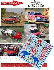 DÉCALS  1/24 réf 977 Citroen  Xsara WRC  Loeb  Elena 1er Chypre 2005