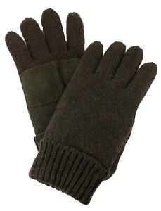 DPC Mens Ragg Wool Knit Winter Gloves Gray Black Thermal Thinsulate Polar Fleece
