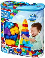 Building First Classic Big Bag 80 Piece Set Mega Builders Bloks Toy Blocks Kids