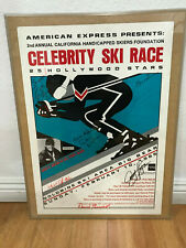 Poster of 2nd Annual Calif. Handicapped Skiers Found. Celebrity Ski Race Signed