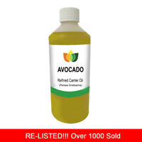 1L AVOCADO OIL REFINED PREMIUM Cold Pressed Natural Carrier/Base 1 Litre