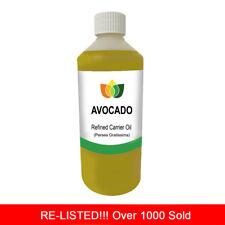 1l Avocado Oil Refined Premium Cold Pressed Natural Carrier/base 1 Litre