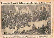 Poilus Salonique Armée française d'Orient Port Thessaloniki Greece  WWI 1915