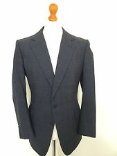Mens Vintage Bespoke Blue Prince Of Wales   Lounge Suit Size 42