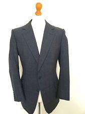 Hombre Vintage a Medida Azul Príncipe de Gales Lounge Traje de Tamaño 42