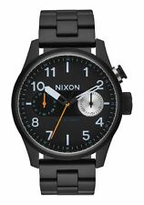 **BRAND NEW** NIXON WATCH THE SAFARI DELUXE ALL BLACK A976001 NEW IN BOX
