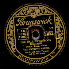 ANDREWS SISTERS  You call everybody darling / Underneath the arches        S8439