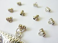 20 pce Antique Silver Alloy Hanger Link Bail Beads 7mm x 5mm Jewellery Making