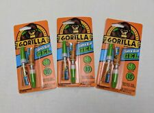 LOT 3 Packs of GORILLA Super Glue GEL 6 Tubes Total NEW in Package! USA Shipped!