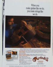 vintage magazine advert 1992 MARTIN GUITARS / STRINGS